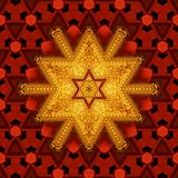 Royal red and gold pattern 001 Royalty Free Stock Images
