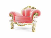 Royal red velvet furniture Royalty Free Stock Image