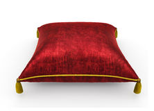 Royal red velvet pillow on white background 5. Royal red velvet pillow on white background Stock Image