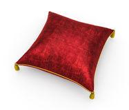 Royal red velvet pillow on white background 4. Royal red velvet pillow on white background Royalty Free Stock Photography