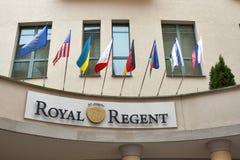 Royal Regent Hotel in Karlovy Vary stock photography