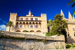 The Royal residence Almudaina Palace Royalty Free Stock Image