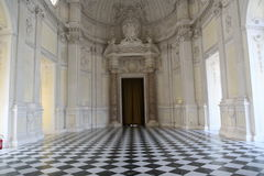 Royal Residence Ballroom. The ball room of the country Royal Palace of the Savoiard dinasty at Venaria Reale, recently restored stock photography