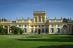 Royal Residence of Polish Kings in Wilanow Royalty Free Stock Images