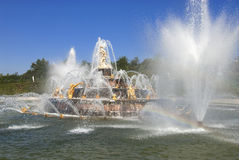 Royal residence Versailles fountain Royalty Free Stock Photography