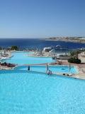 Royal Rojana Resort. The main view to royal rojana resort pools Stock Photography