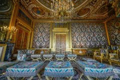 Royal room inside fontainbleau palace stock photo