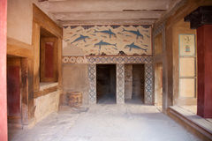 Royal Room at Knossos Stock Photos
