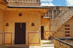 Royal Rooms Of Nahargarh Fort. Interior view of Jaipur Nahargarh Fort,Rajasthan royalty free stock photography