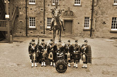 The Royal Scots Dragoon Guards in Edinburgh Royalty Free Stock Photo