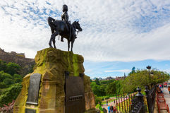 Royal Scots Greys Memorial in Edinburgh, Scotland. Edinburgh, Scotland - September 11, 2016: Royal Scots Greys Memorial in the Princes Street Gardens in Royalty Free Stock Images
