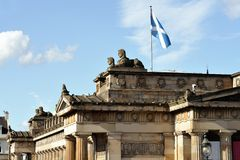 Royal Scottish Academy roof, Edinburgh, Scotland Royalty Free Stock Photos