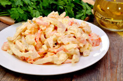 Royal Seafood Salad Royalty Free Stock Images