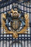 The Royal Seal. Close up of gate at Buckingham Palace Stock Photos