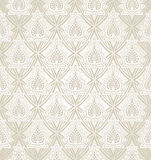 Royal seamless golden wallpaper Stock Images