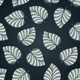 Royal seamless leaves wallpaper Stock Images