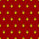 Royal seamless pattern for mantle. Vector illustration for King Stock Image