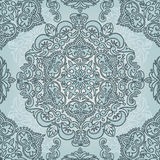 Royal seamless pattern in victorian style. Old fashioned palette, vector illustration Royalty Free Stock Photos