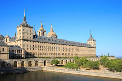 The Royal Seat of San Lorenzo de El Escorial. Is a historical residence of the kings of Spain, in the town of San Lorenzo de El Escorial, about 45 kilometers of Stock Photos