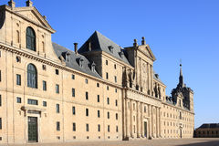 The Royal Seat of San Lorenzo de El Escorial. Is a historical residence of the kings of Spain, in the town of San Lorenzo de El Escorial, about 45 kilometers of Royalty Free Stock Image