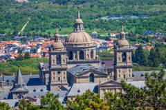 The Royal Seat of San Lorenzo de El Escorial, historical residen Royalty Free Stock Photos