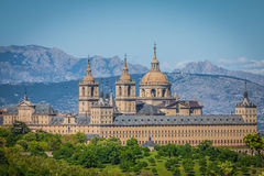 The Royal Seat of San Lorenzo de El Escorial, historical residence Stock Image