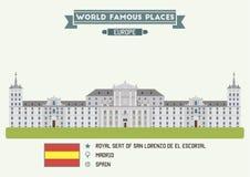 Royal Seat of San Lorenzo de El Escorial. Madrid Stock Photography