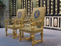 The Royal seats as used during inauguration of new king Royalty Free Stock Photo