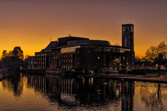 Royal Shakespeare Theatre at Dusk. Stock Image