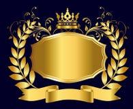 Royal shield of gold Royalty Free Stock Photos
