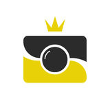 Royal shot icon, logotype. Camera wint crown. Royalty Free Stock Images