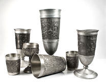 Royal Silver Cups Stock Photos
