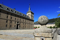 The Royal Site of San Lorenzo de El Escorial is a historical residence of the King of Spain Stock Image