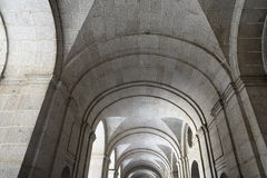 The Royal Site of San Lorenzo de El Escorial is a historical residence of the King of Spain Stock Photography