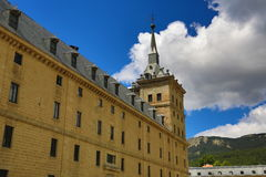 The Royal Site of San Lorenzo de El Escorial is a historical residence of the King of Spain Royalty Free Stock Images