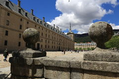 The Royal Site of San Lorenzo de El Escorial is a historical residence of the King of Spain Royalty Free Stock Photo