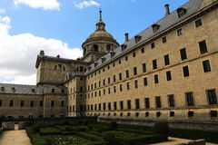 The Royal Site of San Lorenzo de El Escorial is a historical residence of the King of Spain Royalty Free Stock Photography