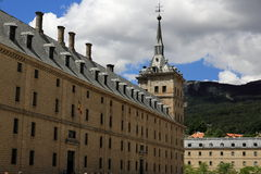 The Royal Site of San Lorenzo de El Escorial is a historical residence of the King of Spain Royalty Free Stock Photos