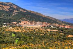 Royal Monastery of San Lorenzo de El Escorial, Madrid, Spain royalty free stock image