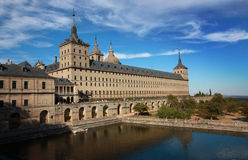 Royal Site of San Lorenzo of El Escorial. The Royal Site of San Lorenzo of El Escorial is an extremely popular Spanish tourist attraction with more than 500,000 stock image
