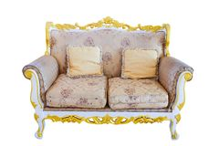 Royal sofa with pillows in beige luxurious Stock Images