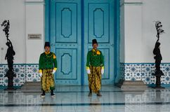 ROYAL SOLDIER SURAKARTA PALACE Royalty Free Stock Photos