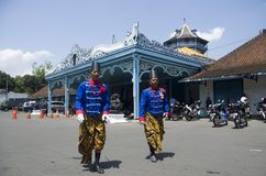ROYAL SOLDIER SURAKARTA PALACE Stock Photography