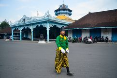 ROYAL SOLDIER SURAKARTA PALACE Royalty Free Stock Images