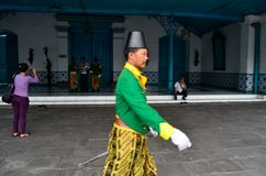 ROYAL SOLDIER SURAKARTA PALACE Stock Images