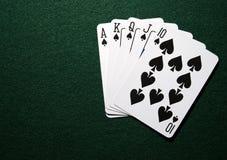 royal spades straight στοκ φωτογραφία με δικαίωμα ελεύθερης χρήσης