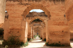 Royal Stables. In Meknes, Morocco. It used to house over 12,000 horses back then Royalty Free Stock Photos