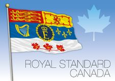 Royal standard of Canada flag, Elizabeth the second. Vector illustration Royalty Free Stock Photography