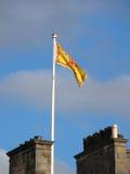 Royal standard of Scotland above Holyrood Palace Royalty Free Stock Photo