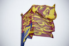 Royal Standard of the United Kingdom Stock Image